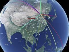 使用百度地图 JavaScript API 绘制2019年中国移民地图