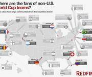 GIS趣味应用:世界杯与美国移民分布