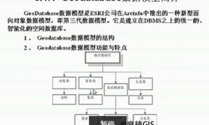 精通ArcGIS第5讲 Geodatabase