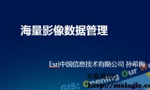 2015年Esri技术公开课(10)海量影像数据管理