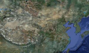 中国遥感地图jpg高清版(20M)
