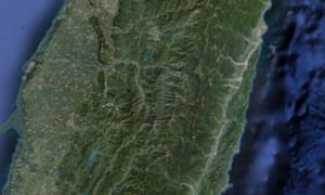 台湾遥感地图jpg高清版(9M)
