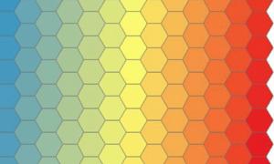 「GIS技巧」用ArcGIS画一个彩虹风格的蜂窝