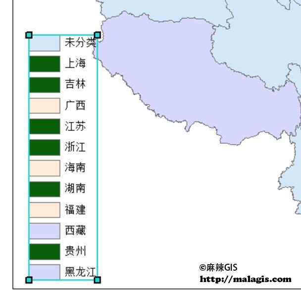 ArcGIS 图例示意