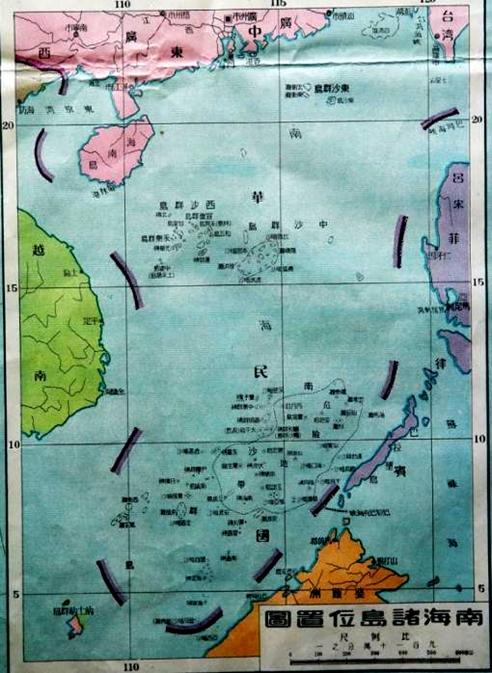 南海诸岛位置图