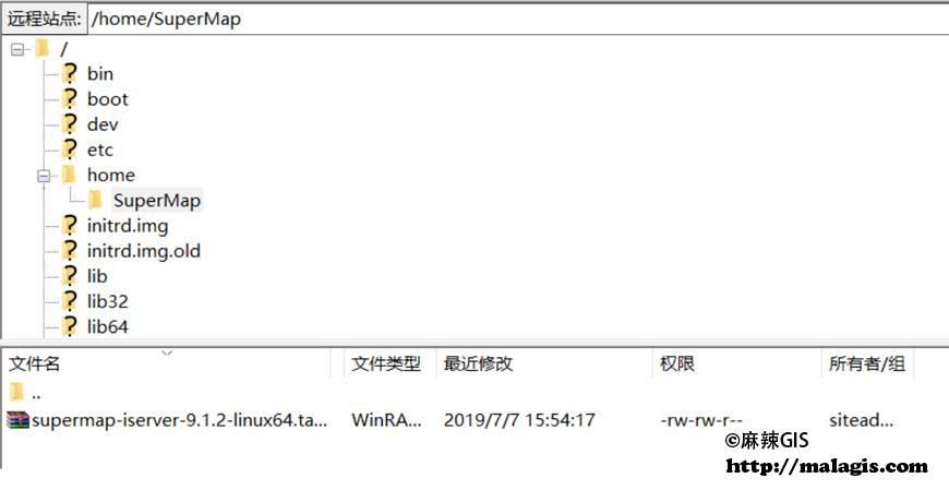 上传SuperMap iServer到FTP