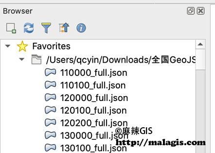 QGIS打开GeoJSON