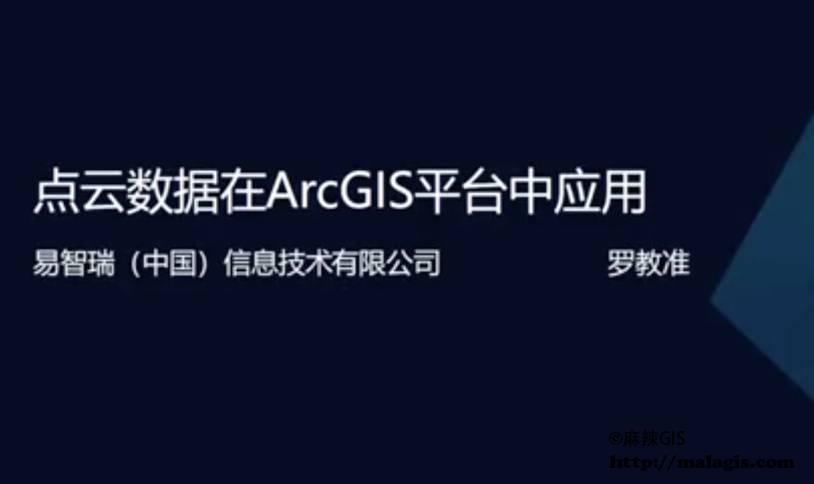 点云数据在ArcGIS平台中应用